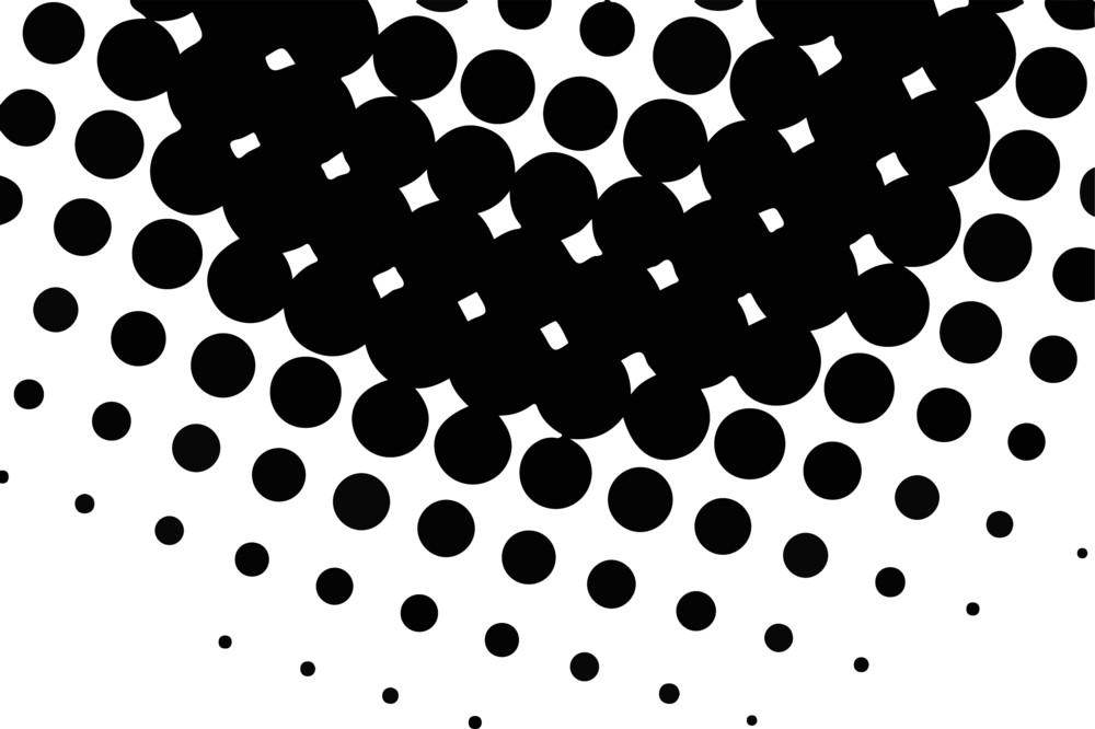 Halftone Circular Background