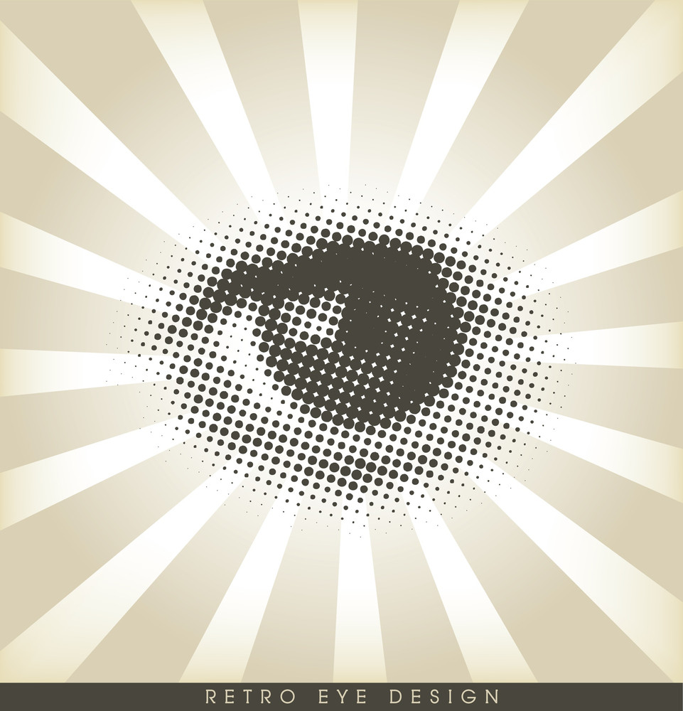 Halftone Eye - Retro Design