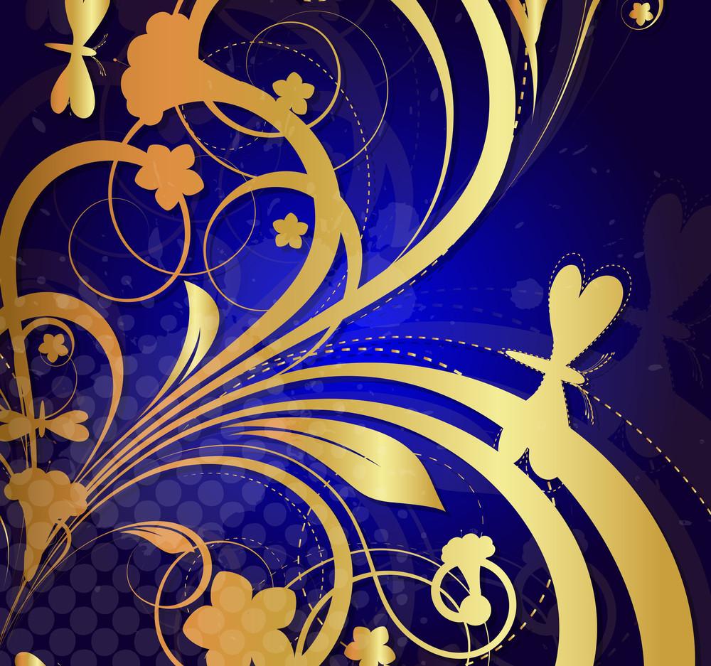 Halftone Floral Design Background