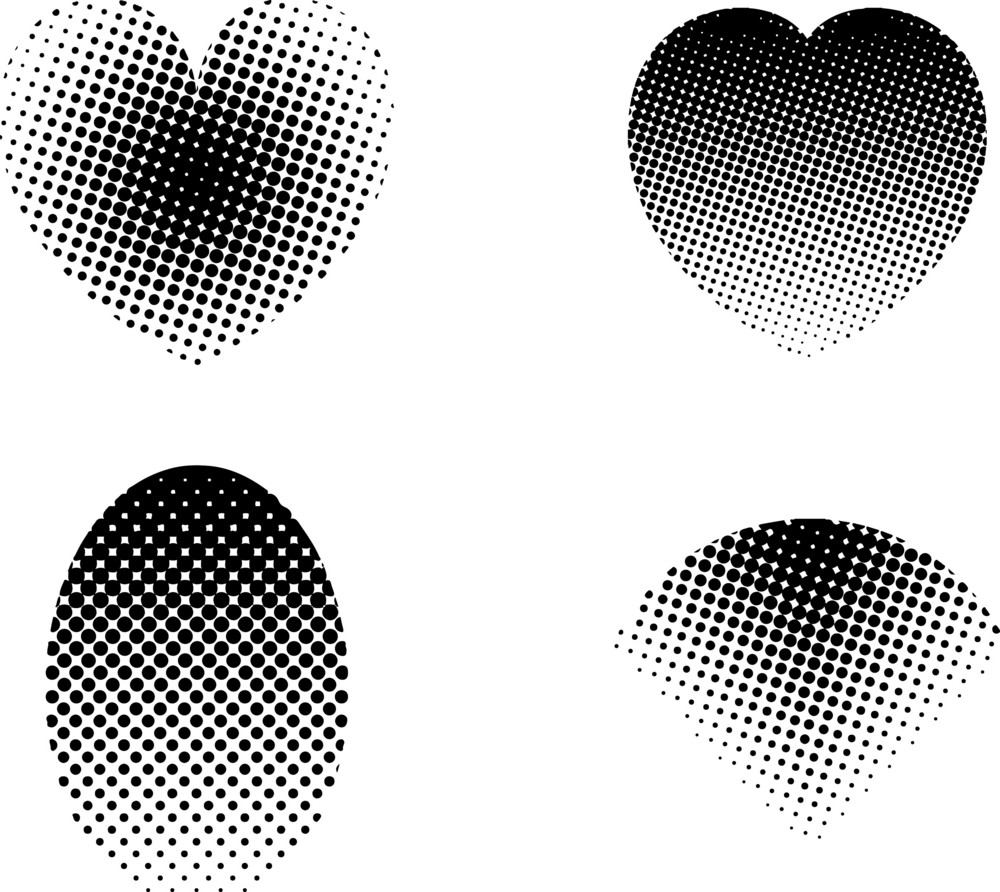 Halftone Retro Elements