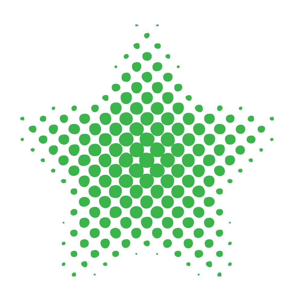 Halftone Star Design