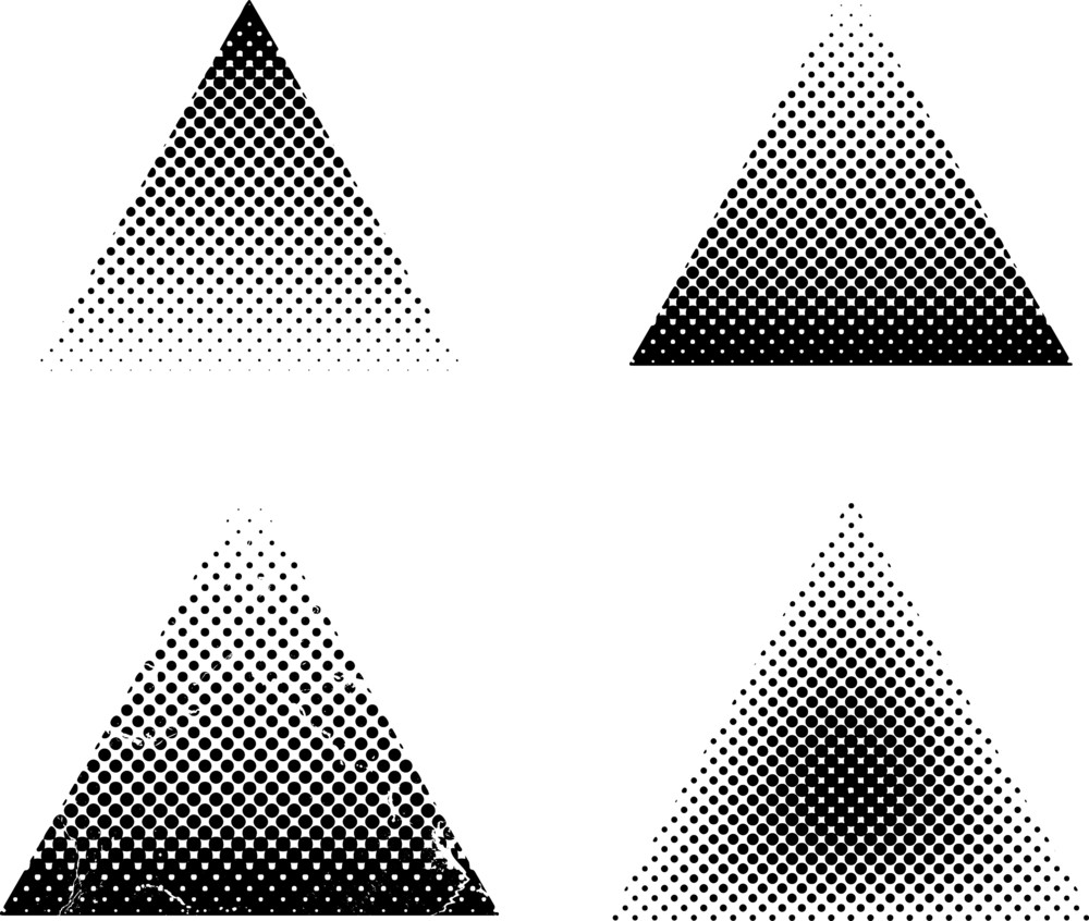 Halftone Triangles