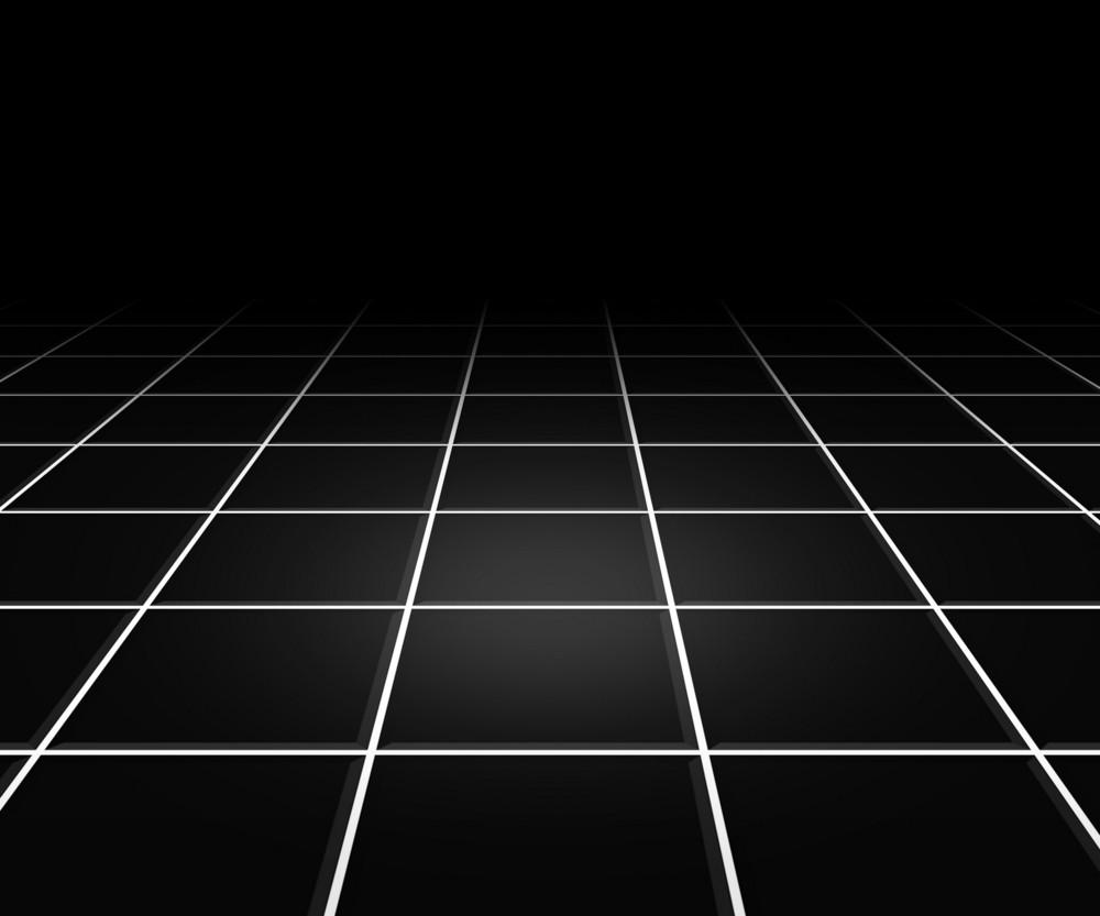 Hall Spotlight Black Floor Background