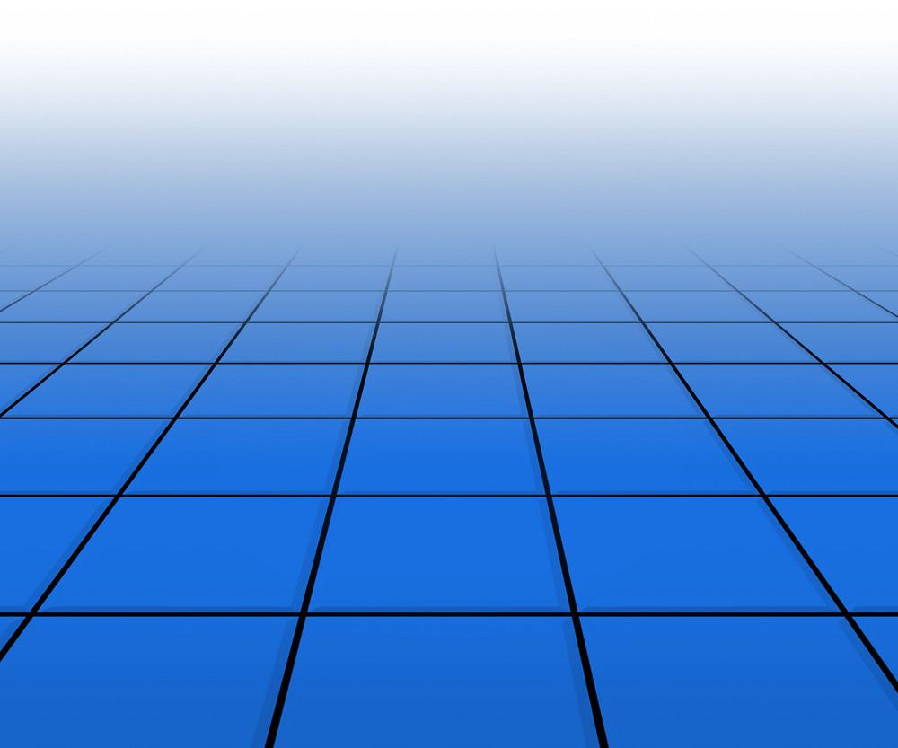 Hall Spotlight Blue Floor Background