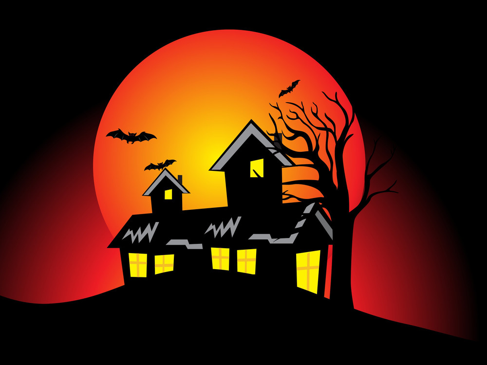 Halloween Background With Dead Tree