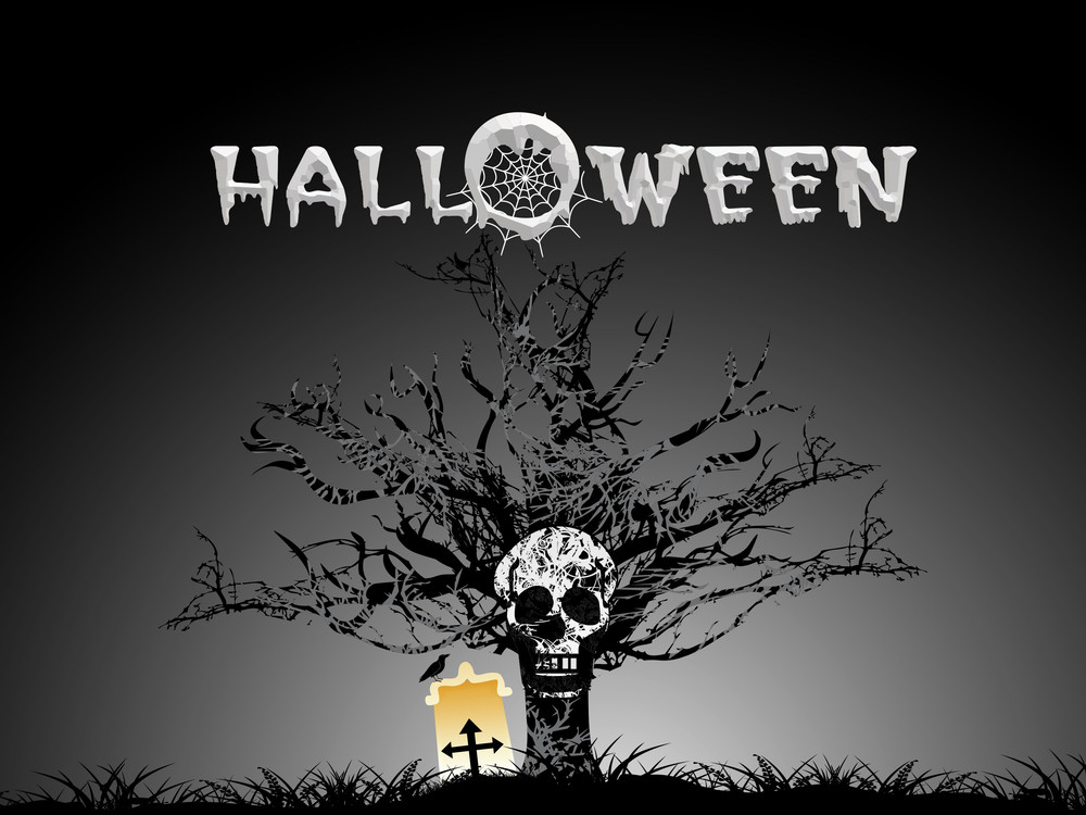 Halloween Background With Scary Object