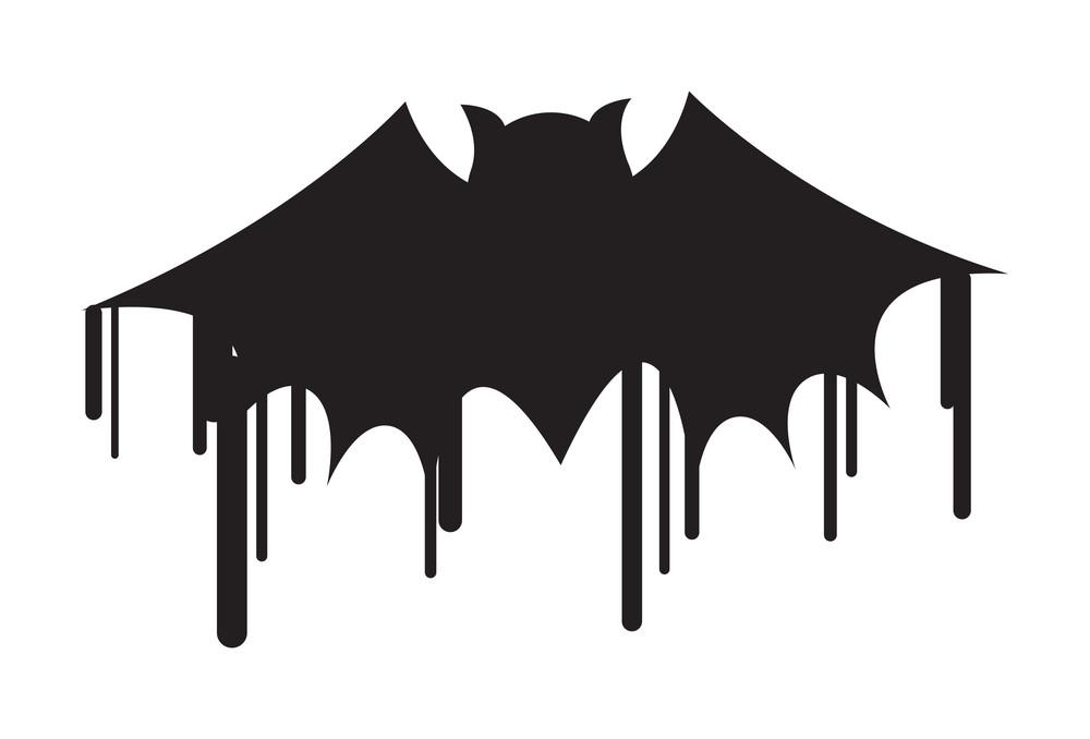 Halloween Bat Shape Painting