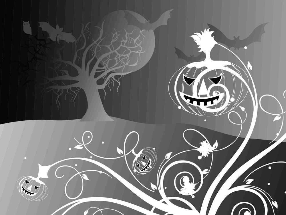 Halloween Black Background Illustration