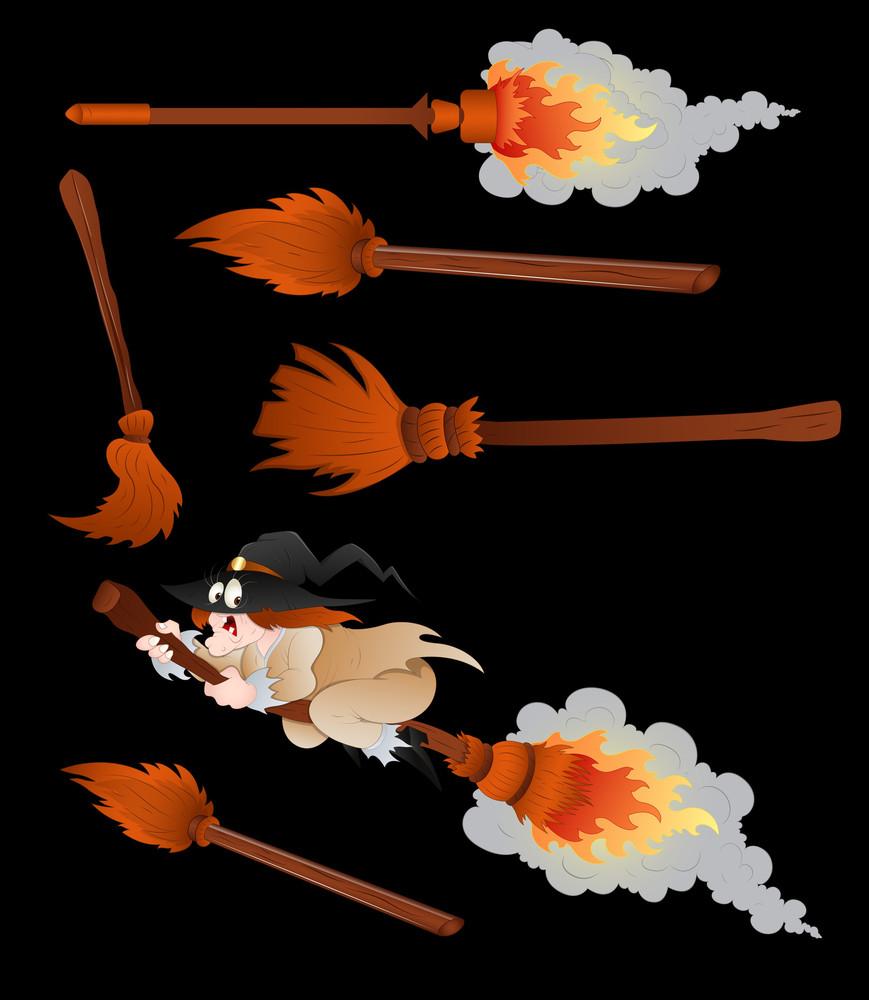 Halloween Broomsticks