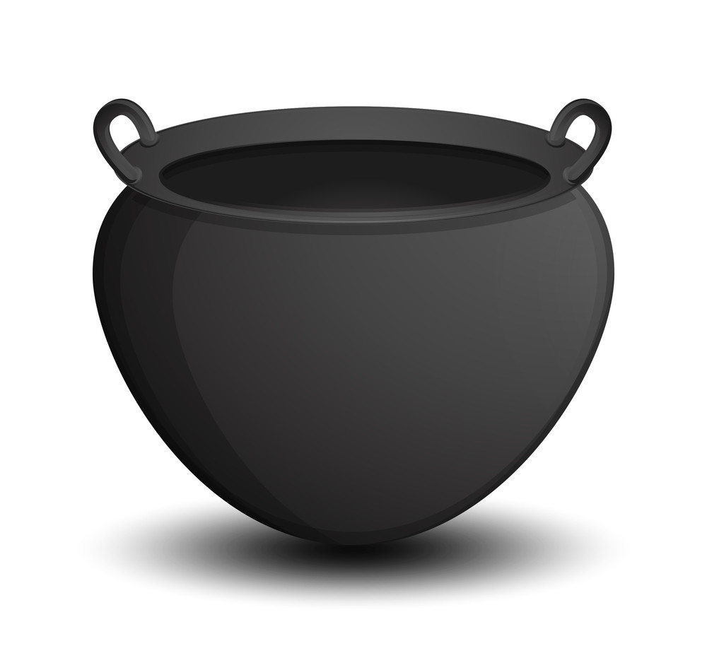 Halloween Cauldron Vector Royalty-Free Stock Image - Storyblocks