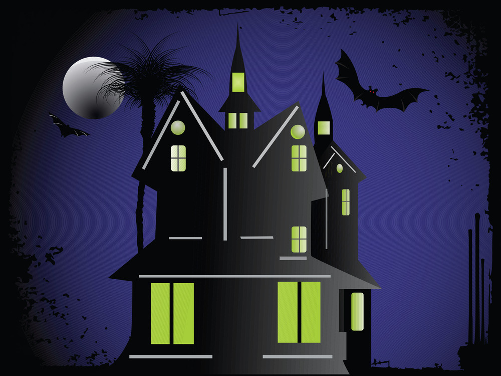 Halloween Cityscape Background