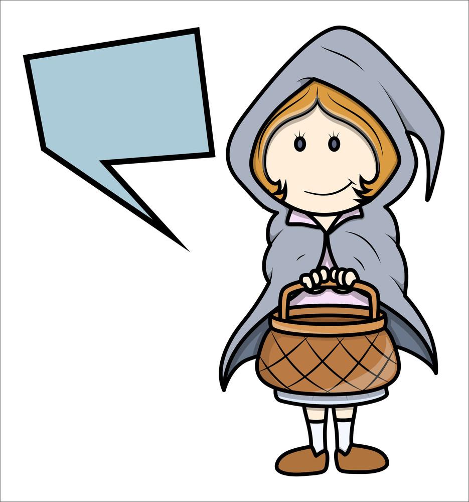 Halloween Custumes Kid - Girl - Vector Cartoon Illustration