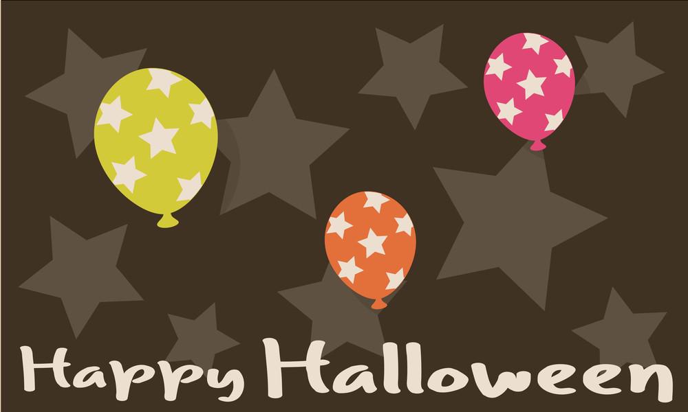 Halloween Decorative Balloons Background