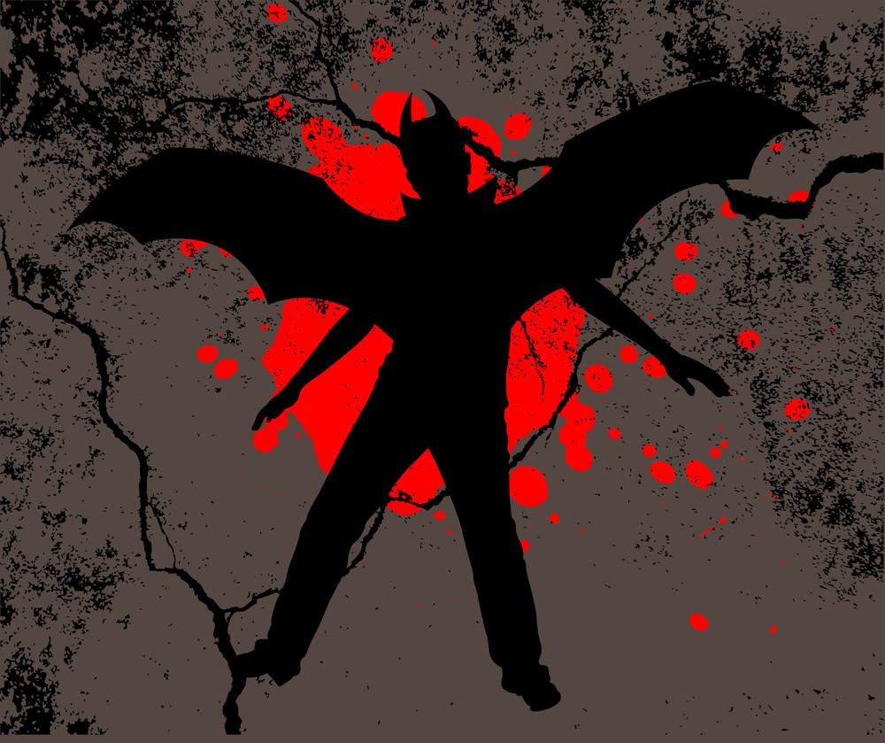 Halloween Dracula Grunge Background