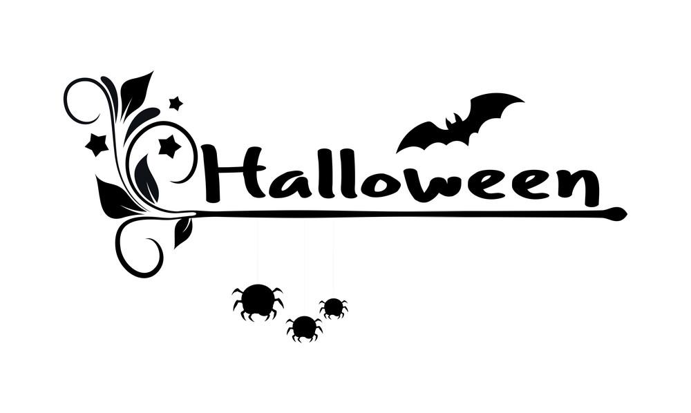 Halloween Flourish Spiders Bat Banner