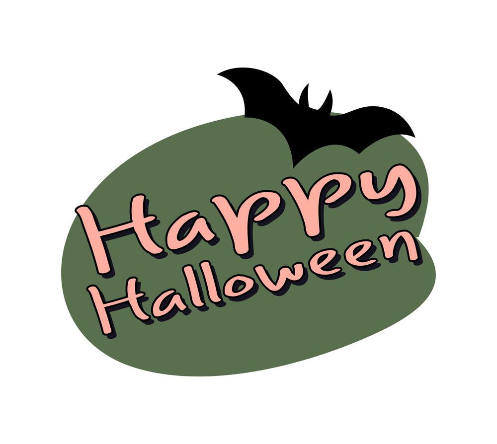 Halloween Flying Bat Shape