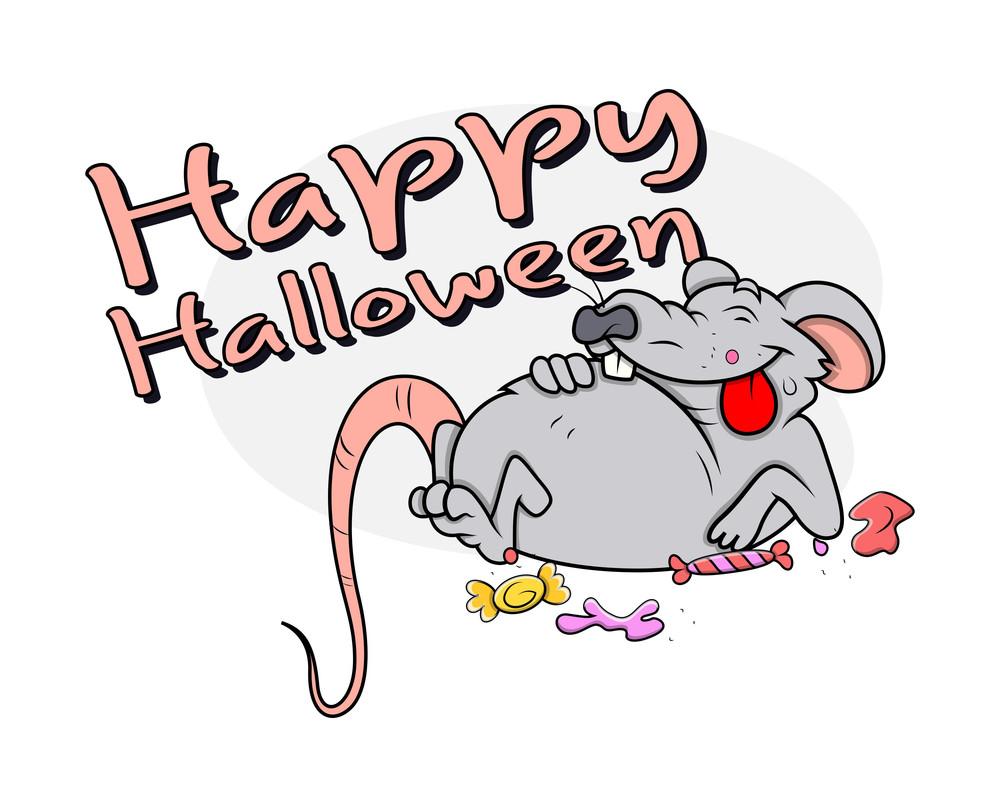 Halloween Funny Rat Character