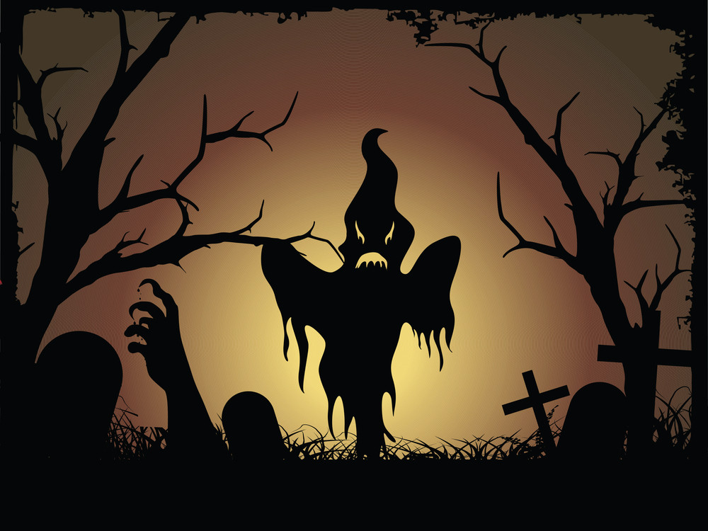 Halloween Graveyard Background