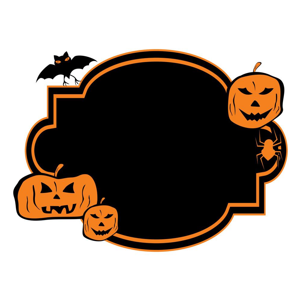 Halloween Greeting Card With Pumpkin