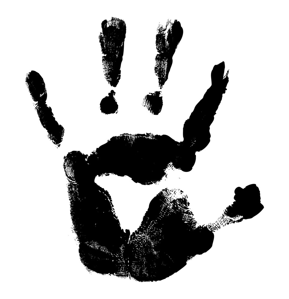 Halloween Hand Print Vector