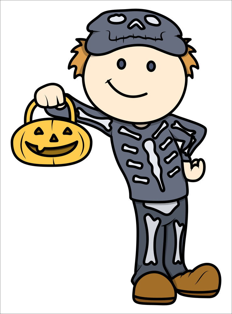 Halloween Kid - Vector Cartoon Illustration