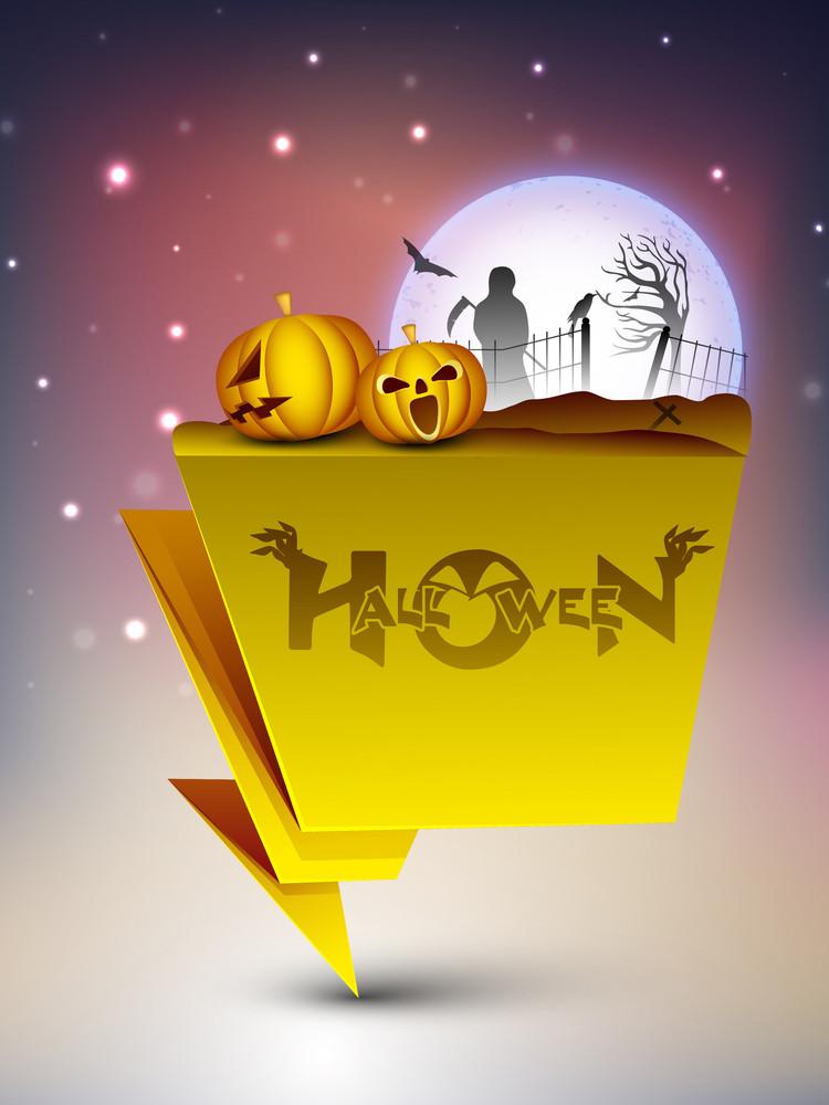 Halloween Night Banner.