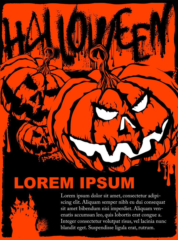 Halloween Poster Vector Template