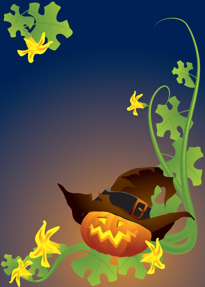 Halloween Pumpkin. Vector Illustration