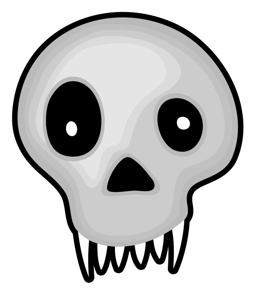 Halloween Scary Skull Vector Drawing