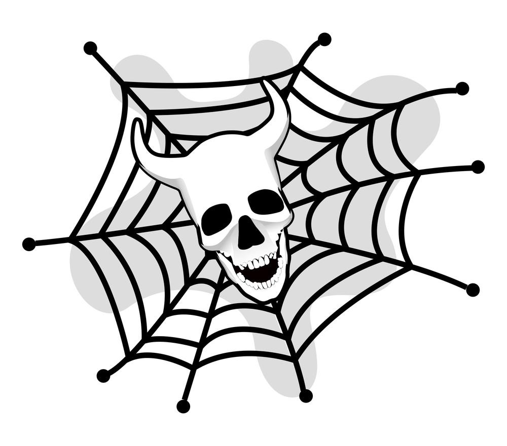 Halloween Skull Web