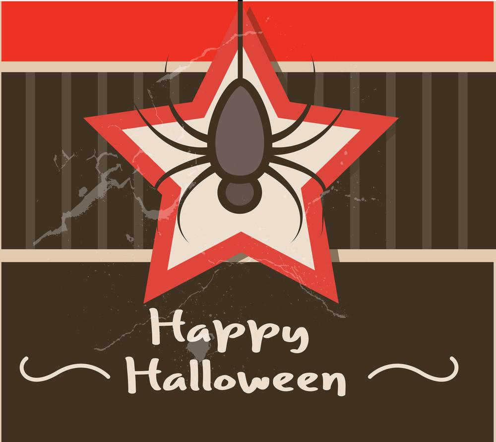 Halloween Spider Retro Background