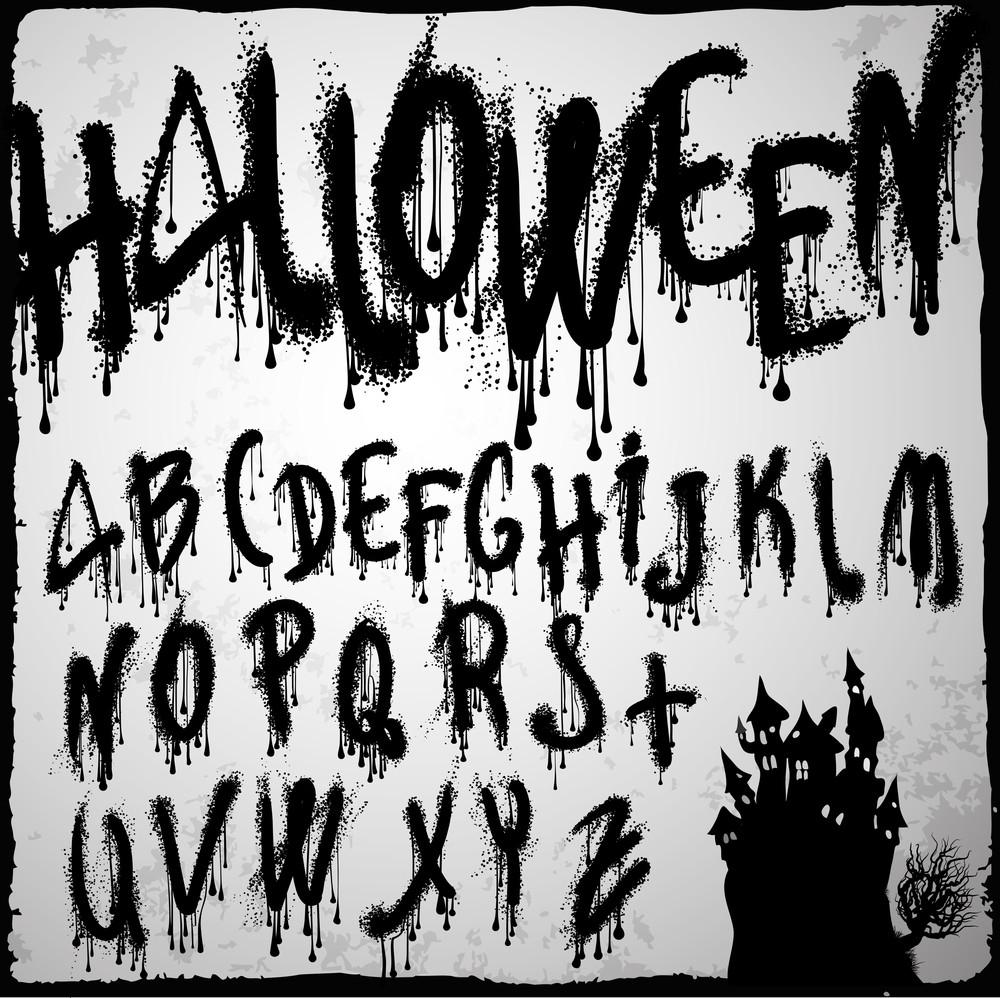 Halloween Splash Vector Grunge Abc.