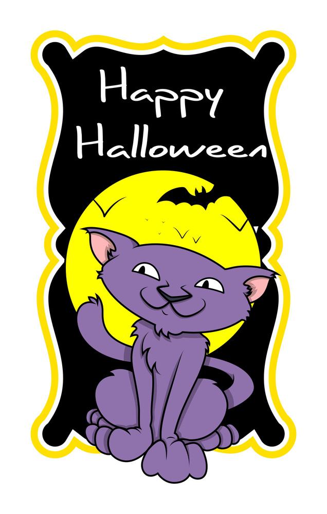 Halloween Spooky Cat Cartoon Graphic