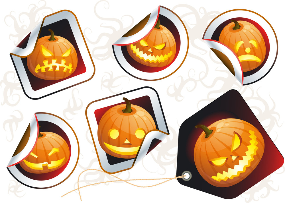 Halloween Stickers. Vector.