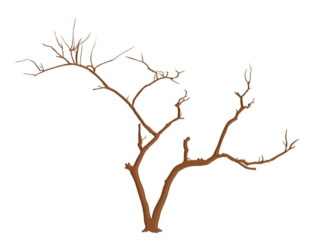 Halloween Tree Branches Vector