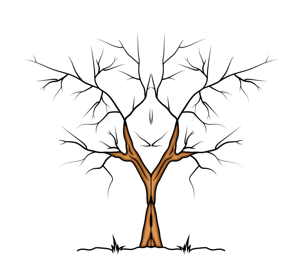 Halloween Tree Vector Design