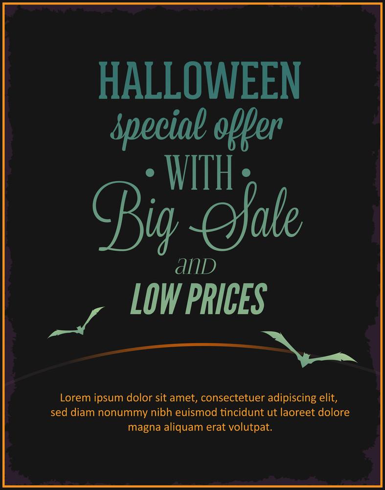 Halloween Vector Illustration (editable Text)