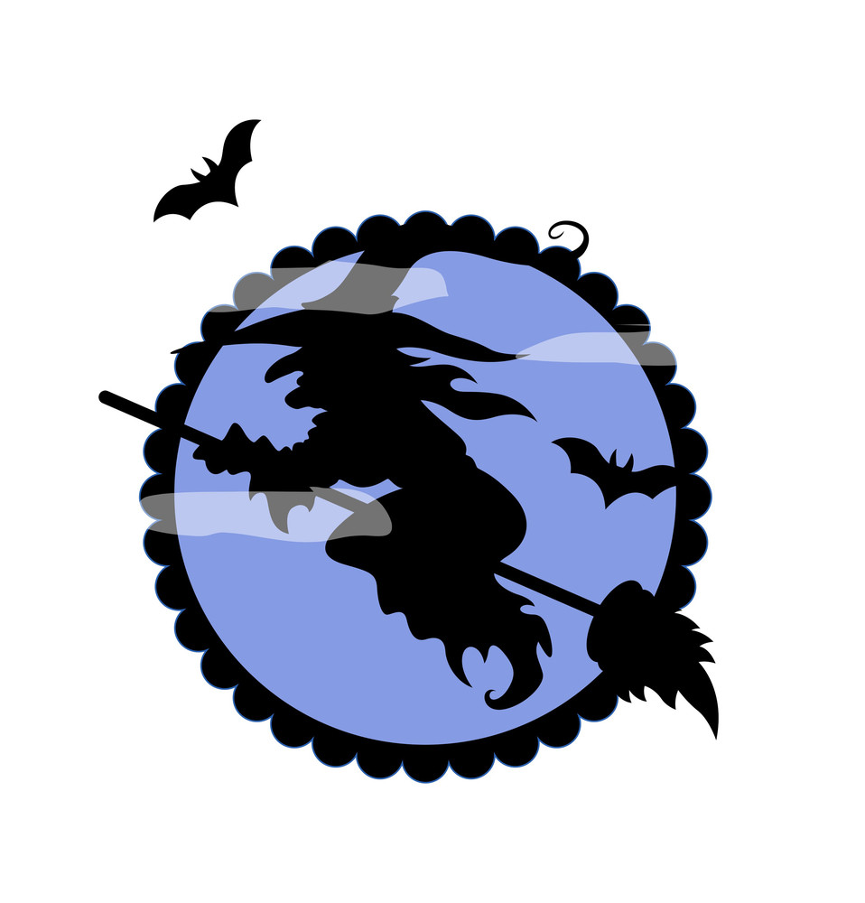 Halloween Witch Flying Shape