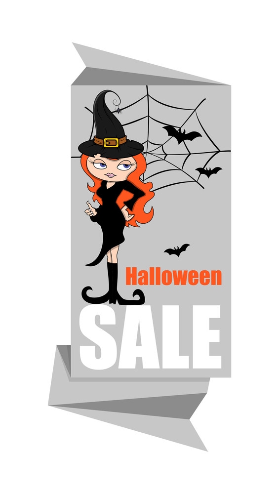 Halloween Witch Paper Banner