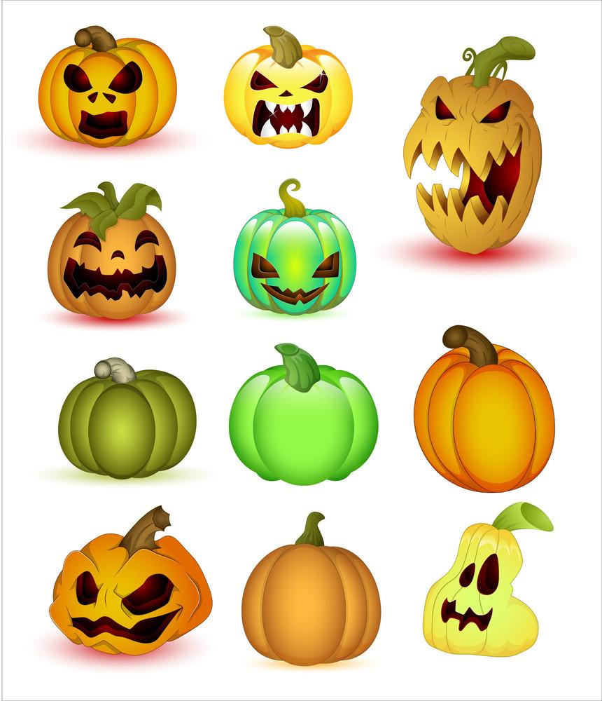 Haloween Pumpkins Vectors