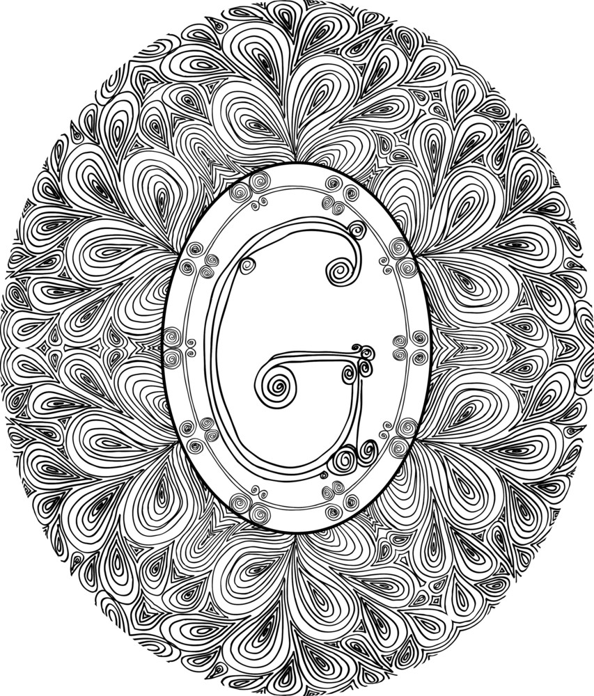 Hand Draw Font. Letter G. Vector Illustration