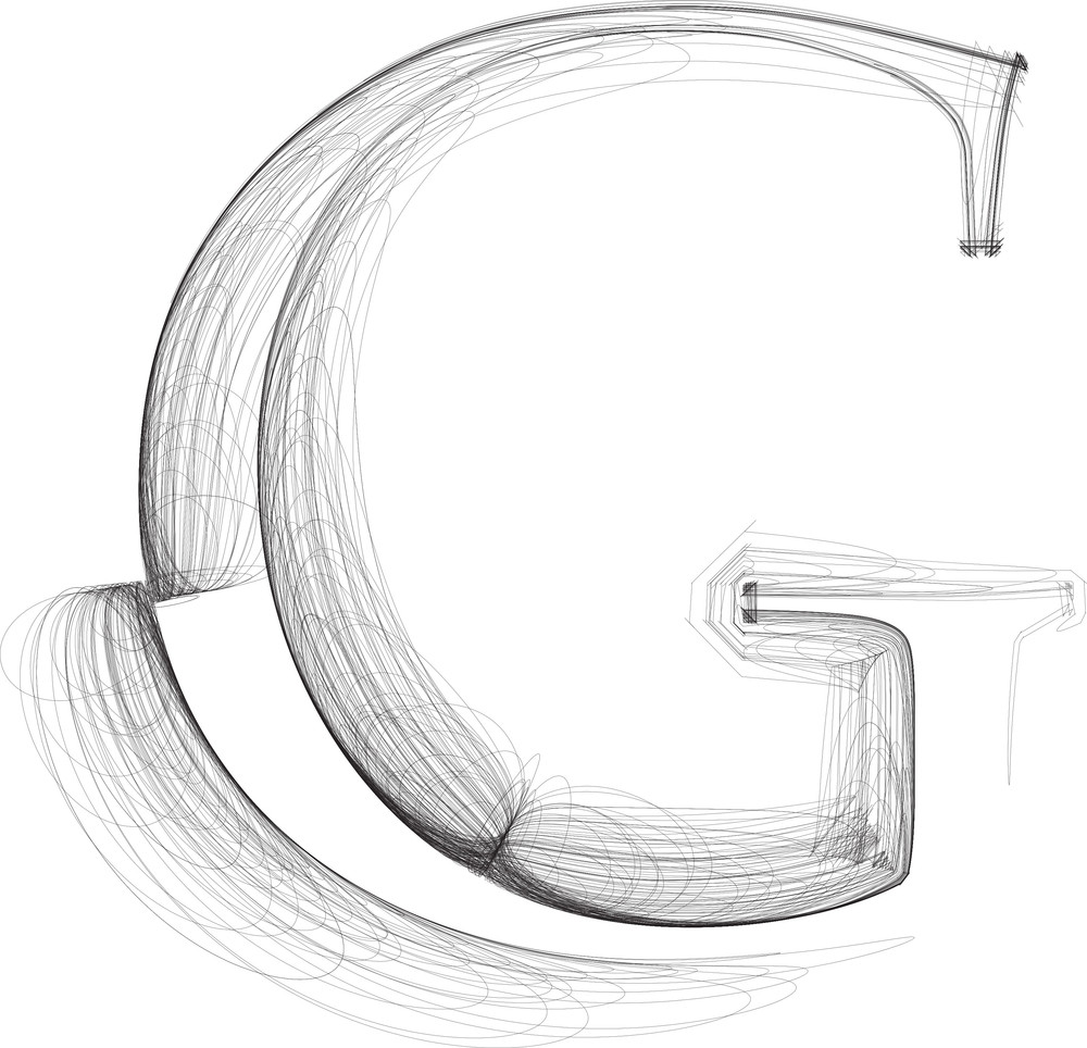 It's just a picture of Modest 3d Letter G Drawing