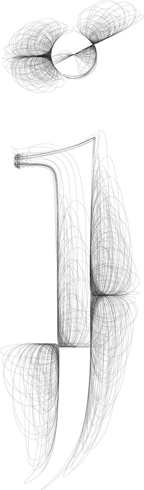 Hand Draw Font. Letter J. Vector Illustration