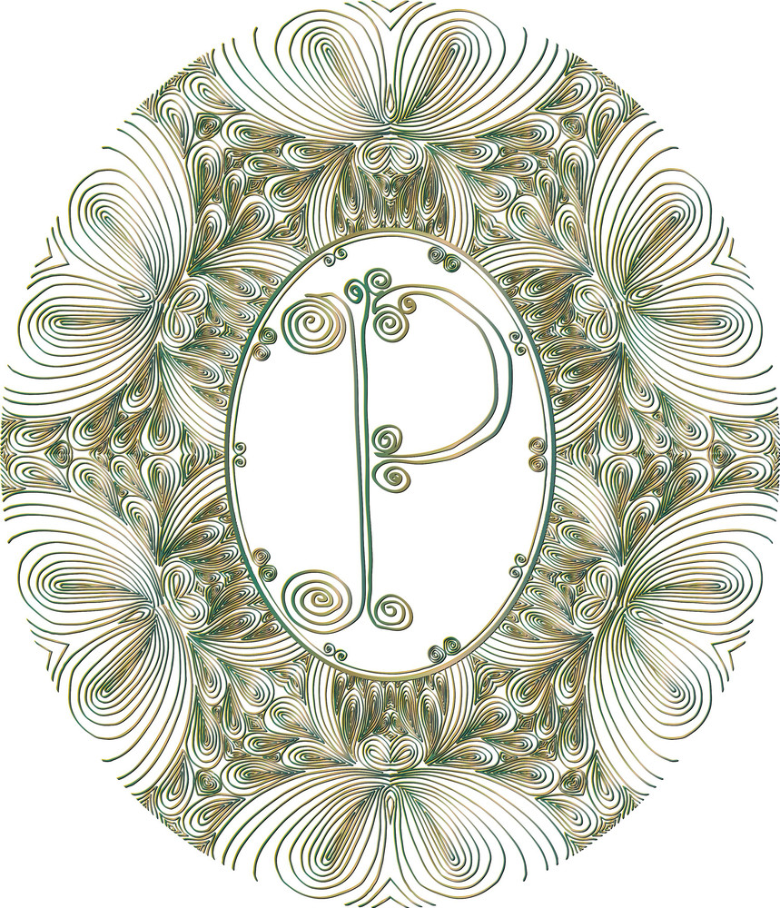 Hand Draw Font. Letter P. Vector Illustration