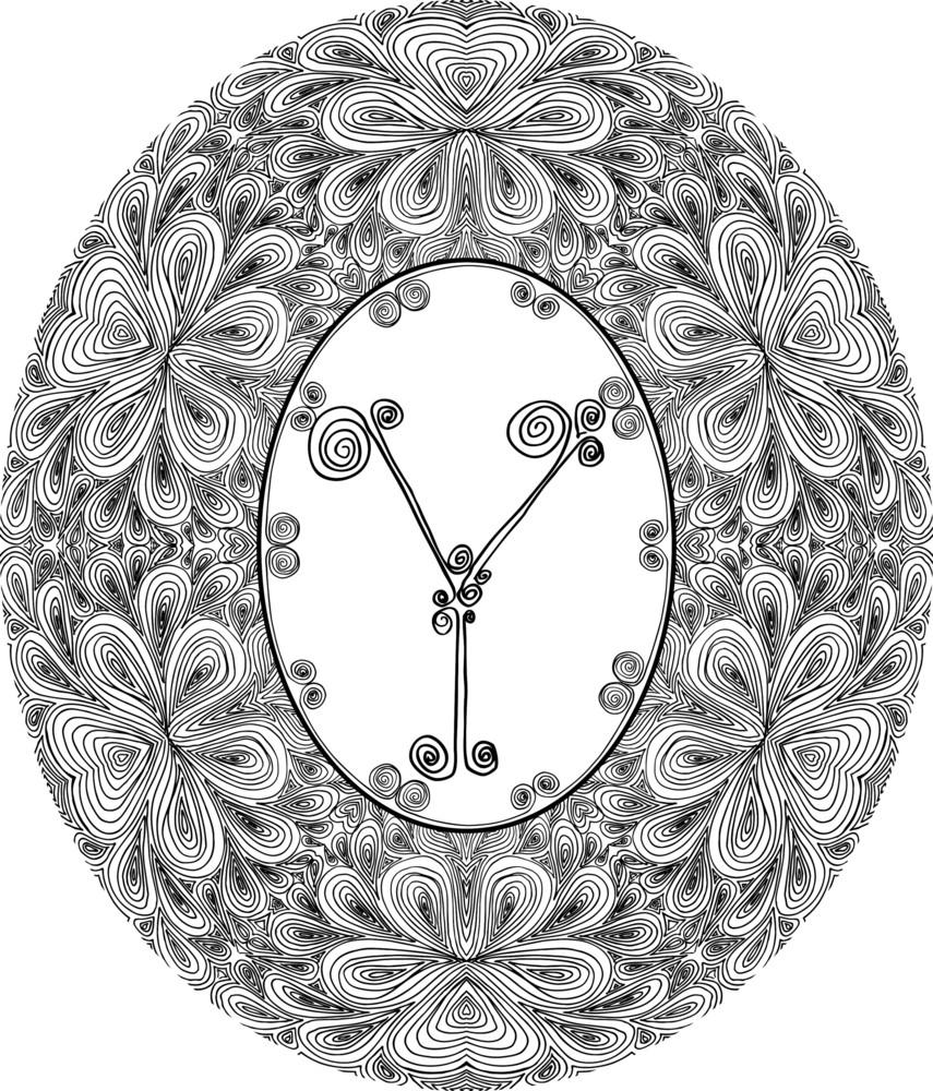 Hand Draw Font. Letter Y. Vector Illustration