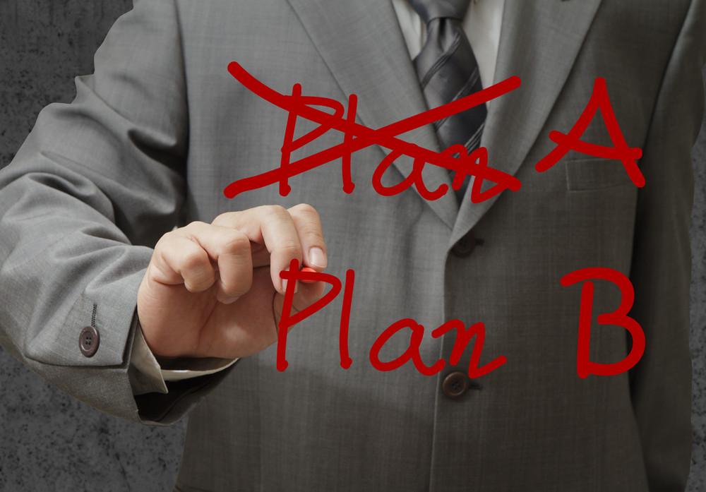 Hand Drawing Plan A Plan B