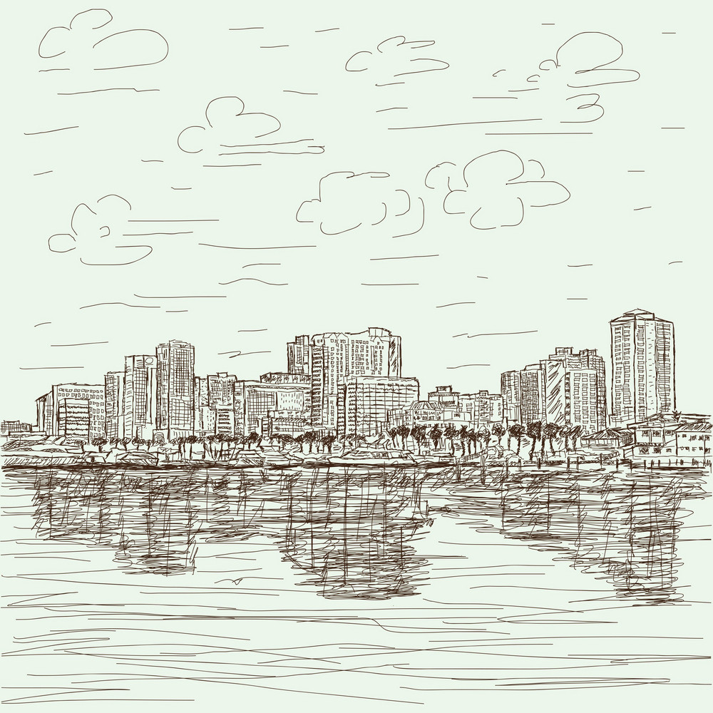 Hand-drawn Cityscape