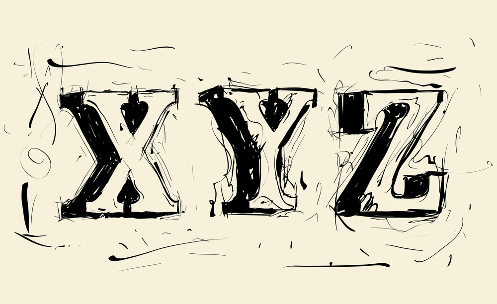 Hand Drawn Grunge Scribble Vector Typeface