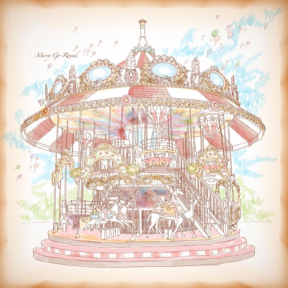 Hand Drawn Merry-go-round