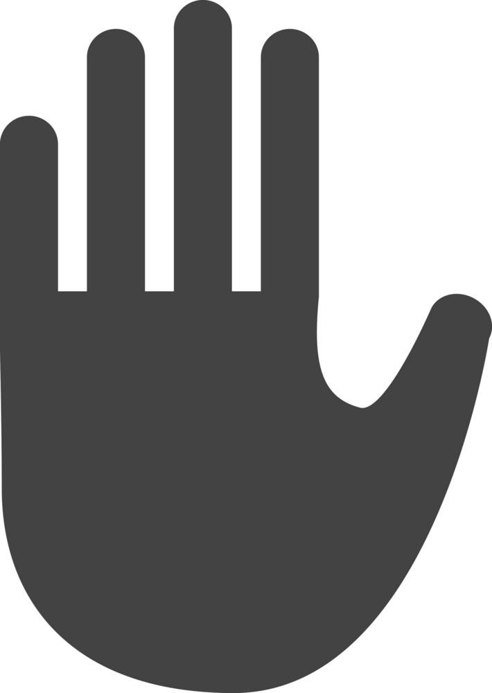 Hand Glyph Icon